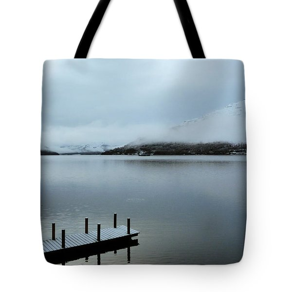 Tote Bag featuring the photograph Pier On The Loch by Lynn Bolt