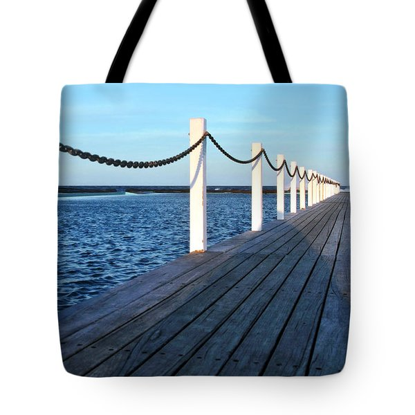 Pier To The Ocean Tote Bag by Kaye Menner