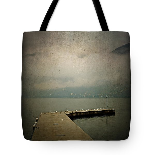 Pier With Seagulls Tote Bag by Joana Kruse