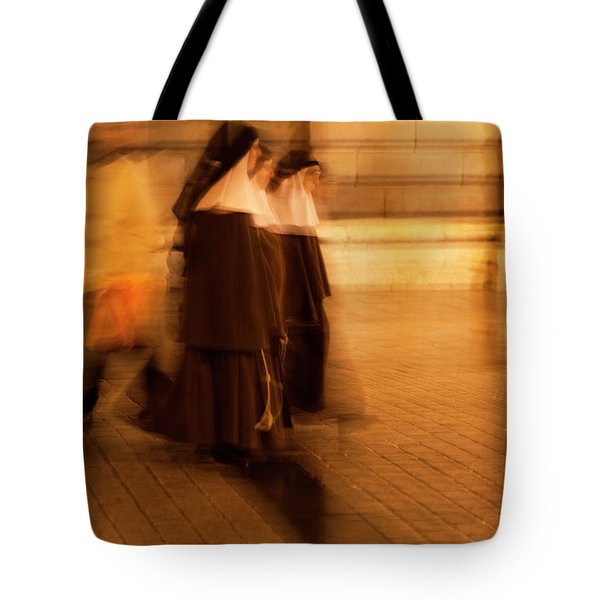 Tote Bag featuring the photograph Piety In Motion by Lorraine Devon Wilke