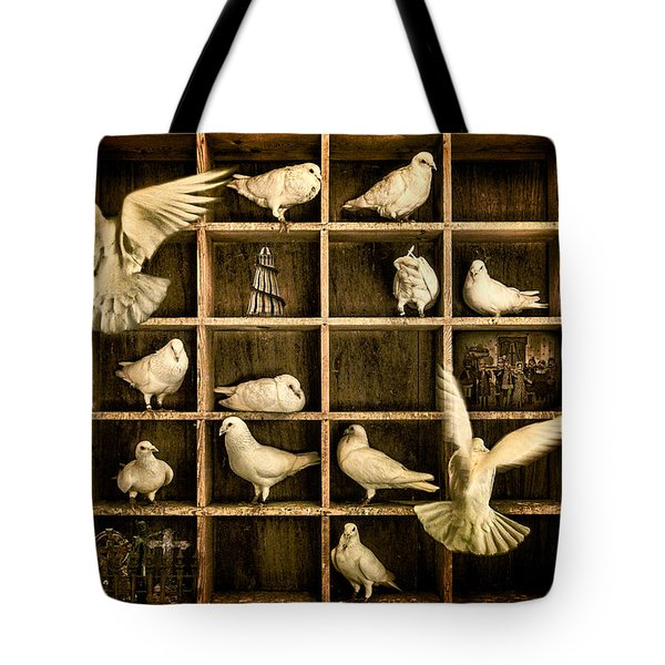 Pigeon Holed Tote Bag by Chris Lord