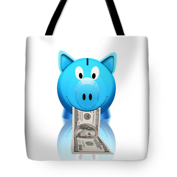 Piggy Bank Tote Bag by Setsiri Silapasuwanchai