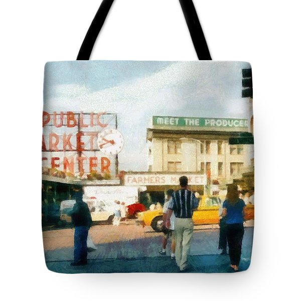 Pike Place Market Tote Bag by Michelle Calkins