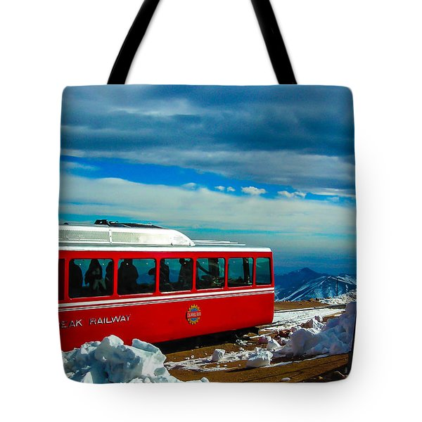 Tote Bag featuring the photograph Pikes Peak Railway by Shannon Harrington