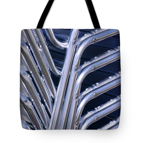Pile Of Chairs Tote Bag by Carlos Caetano