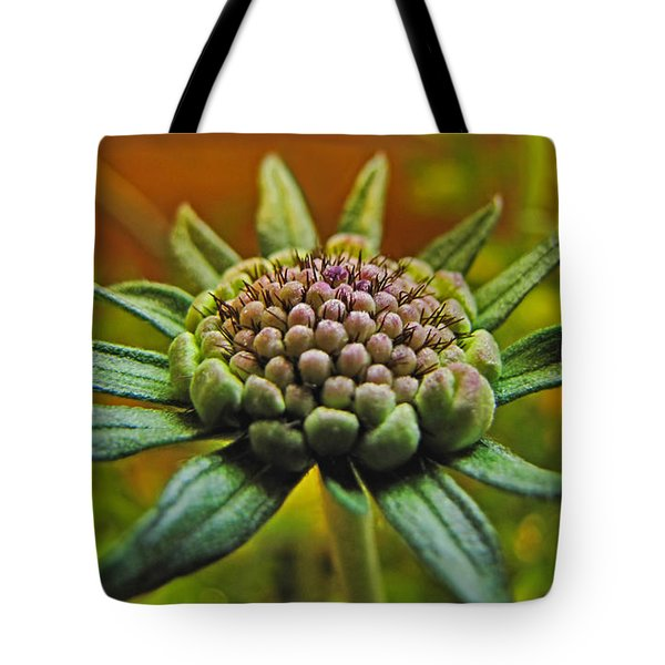 Tote Bag featuring the photograph Pinchshin Bud by Debbie Portwood