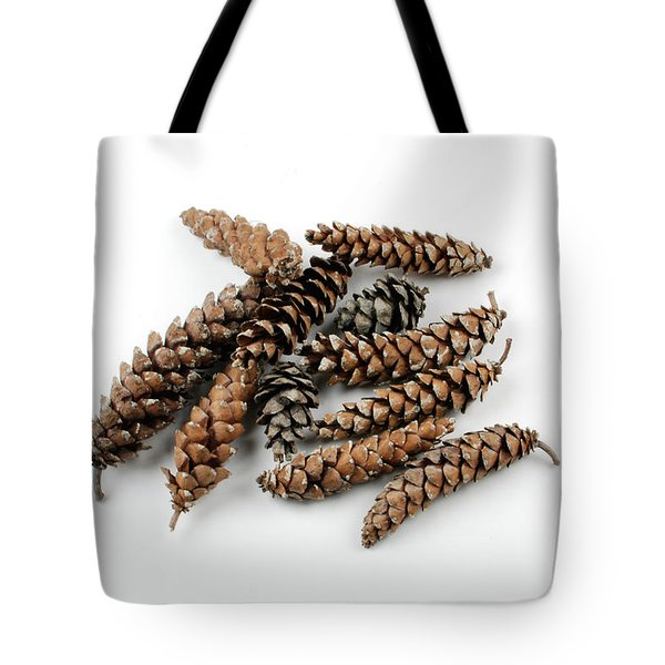 Pine Cones Tote Bag by Photo Researchers, Inc.
