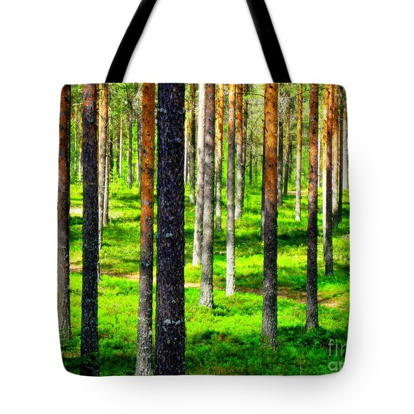 Pine Forest Tote Bag by Pauli Hyvonen