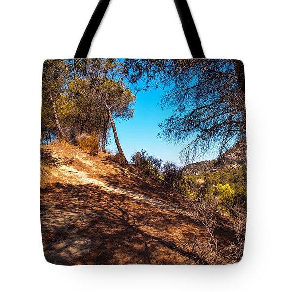 Pine Trees In El Chorro. Spain Tote Bag by Jenny Rainbow