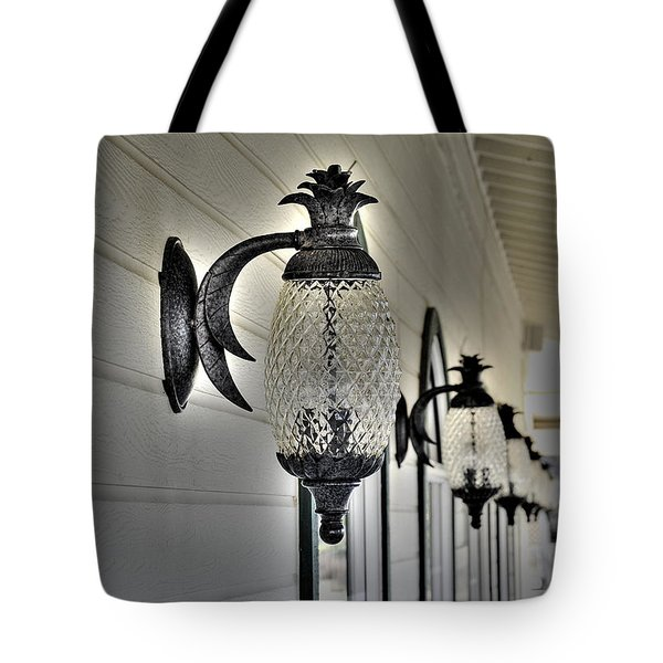 Pineapple Lights Tote Bag