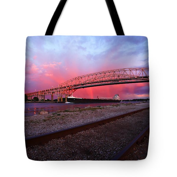 Tote Bag featuring the photograph Pink And Blue by Gordon Dean II