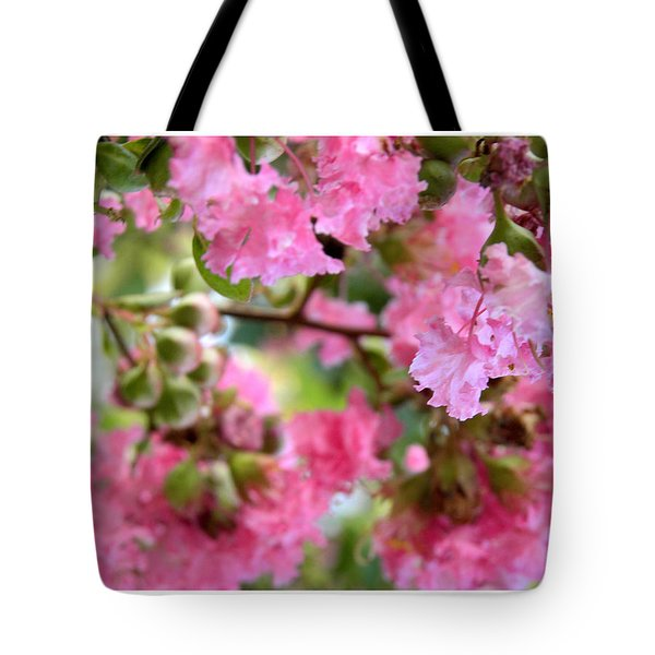 Tote Bag featuring the photograph Pink Blooms by Nada Meeks