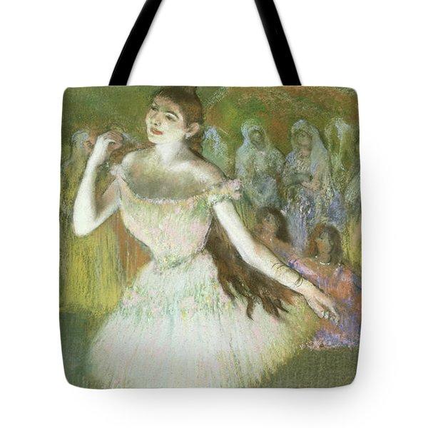 Pink Dancer  Tote Bag by Edgar Degas