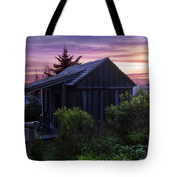 Pink Dawn Tote Bag by Debra and Dave Vanderlaan