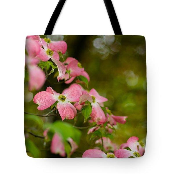 Pink Dogwood Blooms Tote Bag