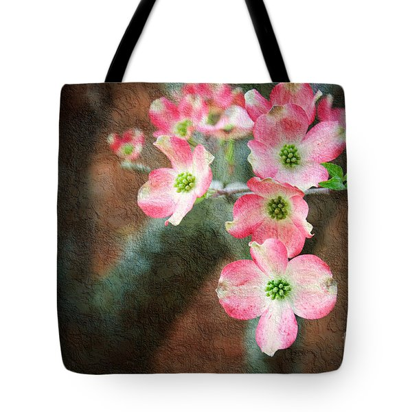 Pink Dogwood Cascade Tote Bag by Andee Design
