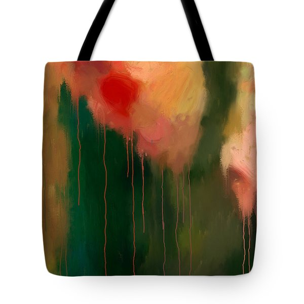 Pink Drips Tote Bag by Michael Pickett