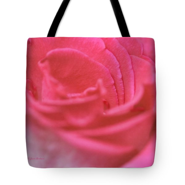 Tote Bag featuring the photograph Pink Edges by Joan Bertucci