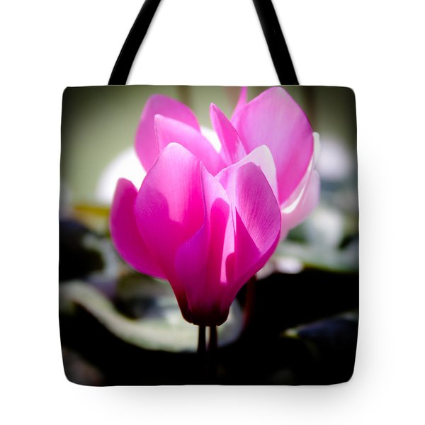 Pink Floral Tote Bag by David Patterson