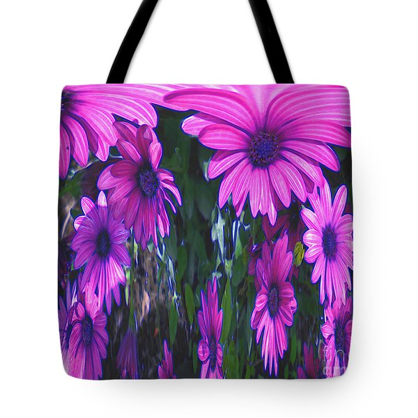 Pink Flower Power Tote Bag