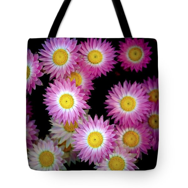 Pink Flowers At Dawn 3 Tote Bag by Sumit Mehndiratta