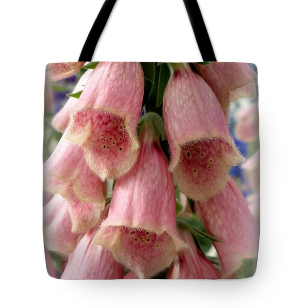 Pink Foxglove Tote Bag by Lainie Wrightson