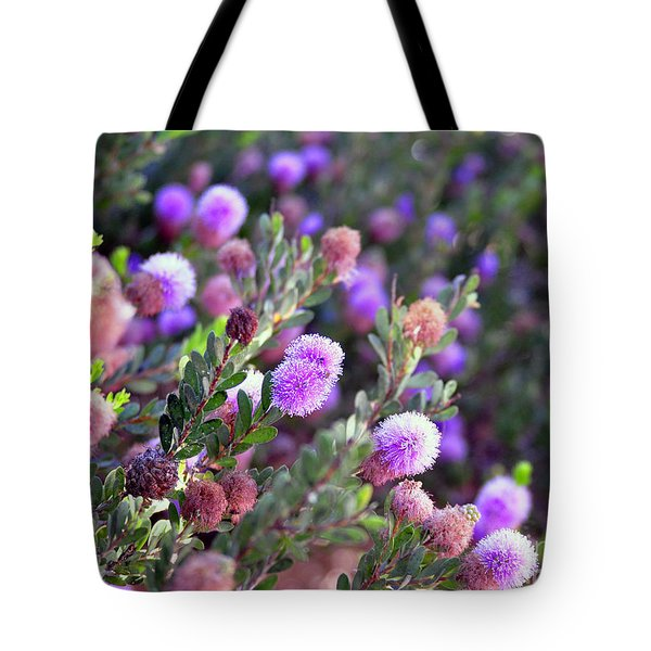 Tote Bag featuring the photograph Pink Fuzzy Balls by Clayton Bruster