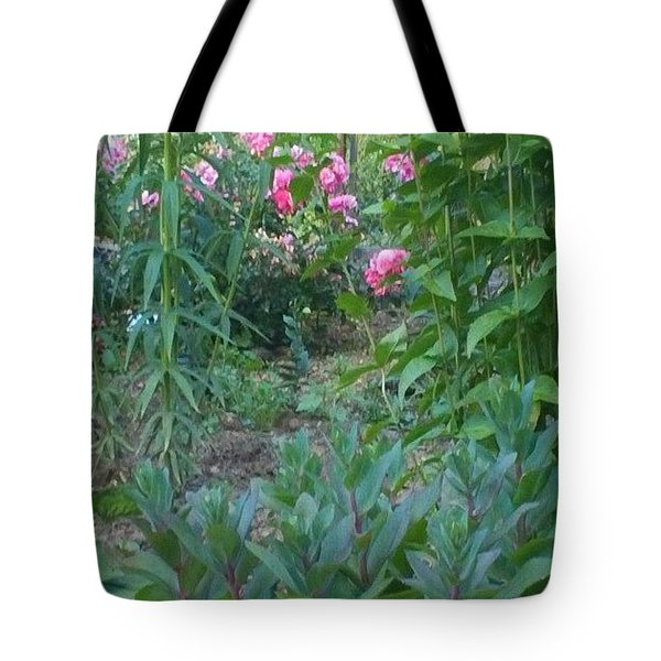 Pink Garden Flowers Tote Bag by Thelma Harcum