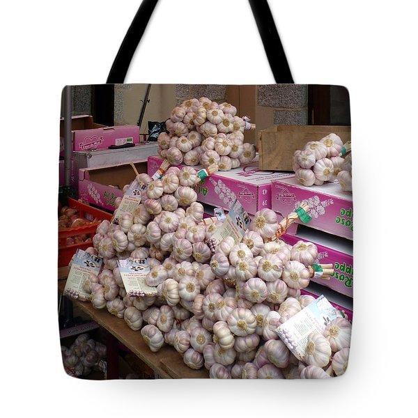 Pink Garlic Tote Bag by Carla Parris