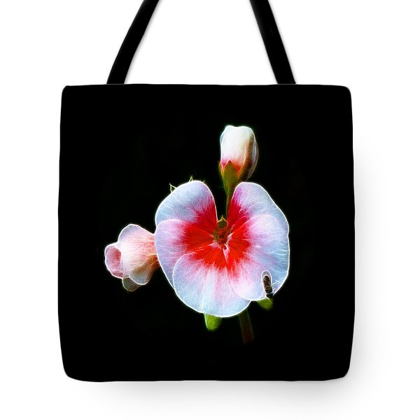 Tote Bag featuring the photograph Pink Geranium by Lynn Bolt