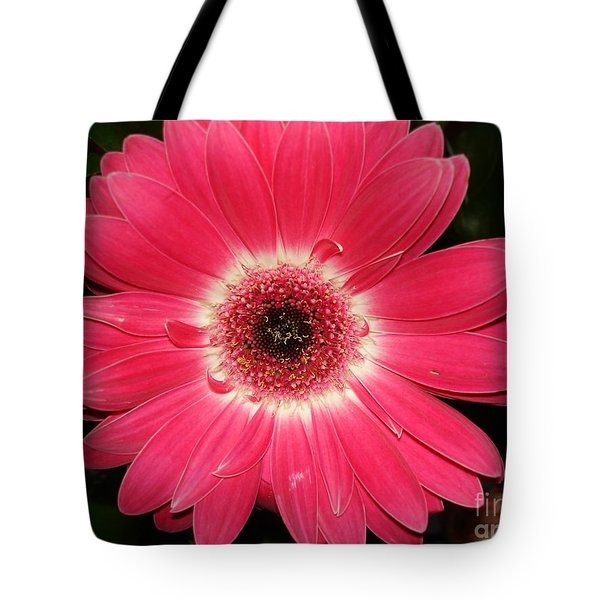 Tote Bag featuring the photograph Pink Gerbera Daisy by Kerri Mortenson