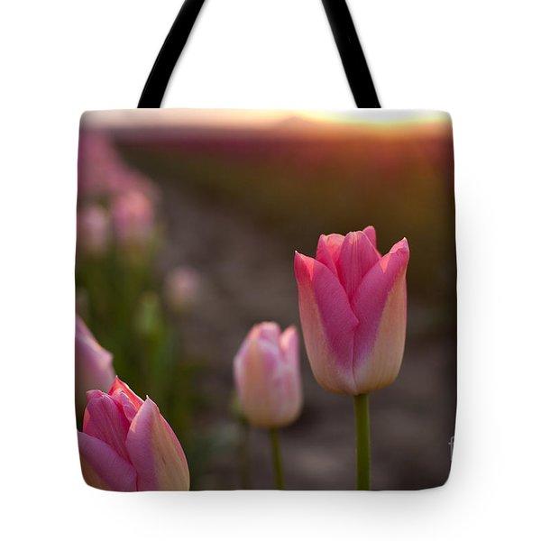Pink Glory Tote Bag by Mike Reid