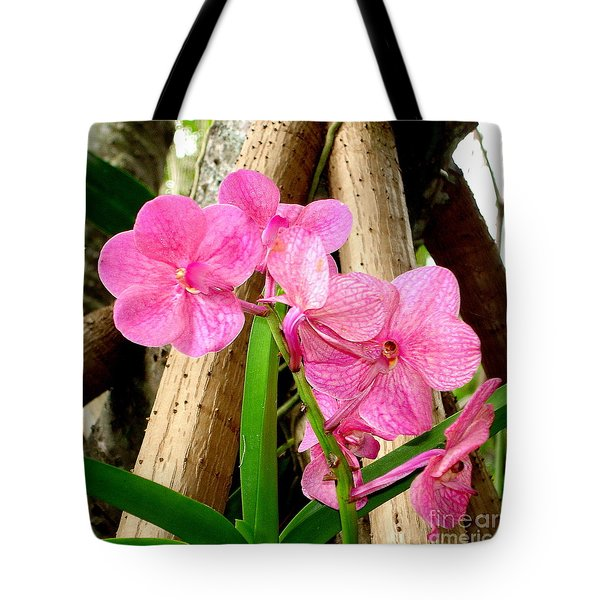 Pink Hawaiian Orchid Tote Bag by Tanya  Searcy