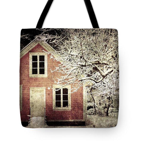 Pink House Tote Bag