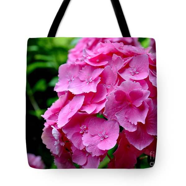 Pink Hydrangea Bloom Tote Bag by Tanya  Searcy