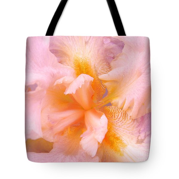 Tote Bag featuring the photograph Pink Iris by Cindy Lee Longhini