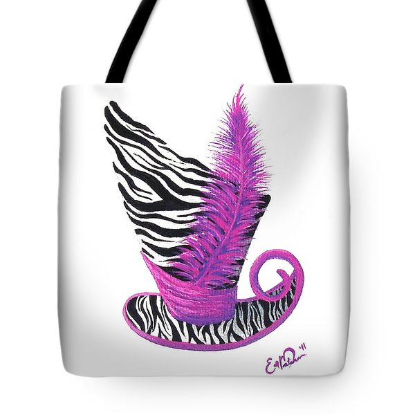 Pink Magic Hat Tote Bag by Oddball Art Co by Lizzy Love