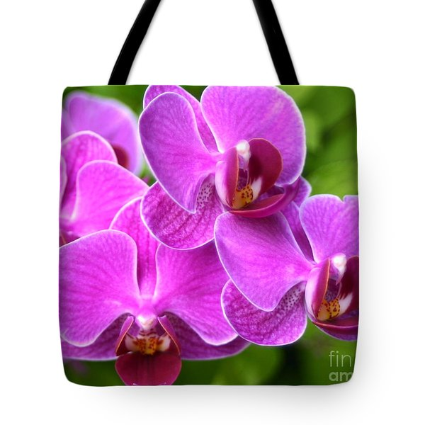 Tote Bag featuring the photograph Pink Orchids B by Cindy Lee Longhini