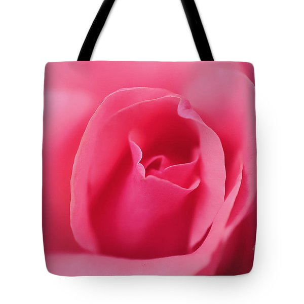 Pink Precious Powerful Rose Tote Bag by Clayton Bruster