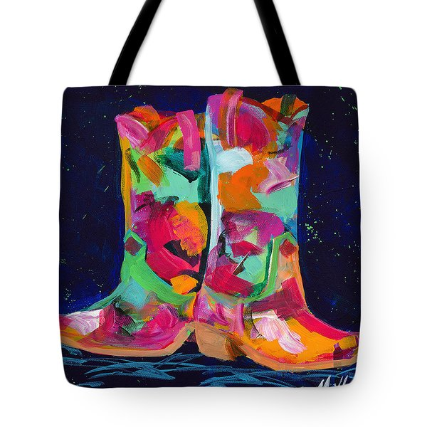 Pink Pull Ups Tote Bag by Tracy Miller
