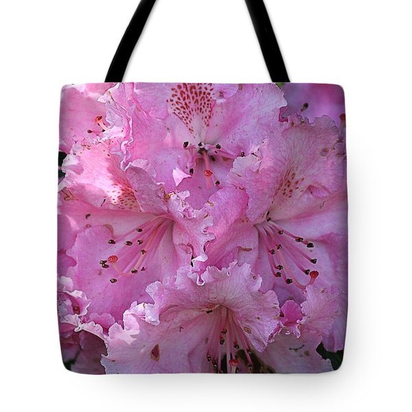 Pink Rhododendrons Tote Bag