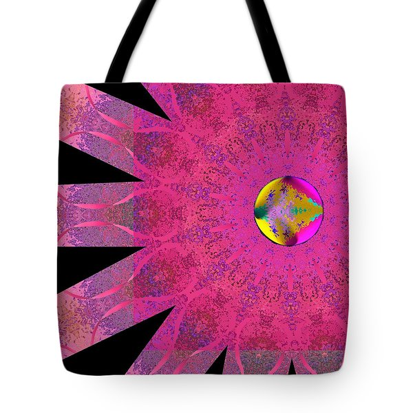 Tote Bag featuring the digital art Pink Ribbon Of Hope by Alec Drake