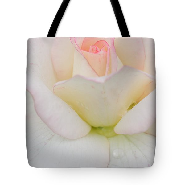 Pink Rim White Rose Tote Bag by Atiketta Sangasaeng