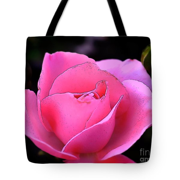 Tote Bag featuring the photograph Pink Rose Day by Clayton Bruster