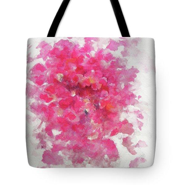 Pink Rose Tote Bag by Rachel Christine Nowicki