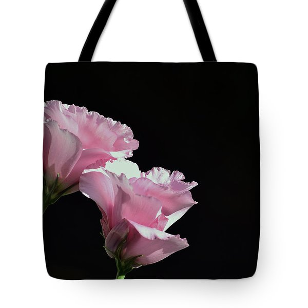 Pink Roses Tote Bag by Lisa Plymell