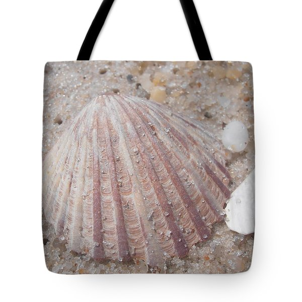 Pink Scallop Shell Tote Bag by Kimberly Perry