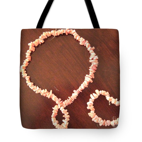 Pink Stone Necklace Bracelet Tote Bag by Sonali Gangane