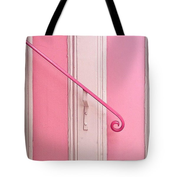 Pink Stripes Tote Bag
