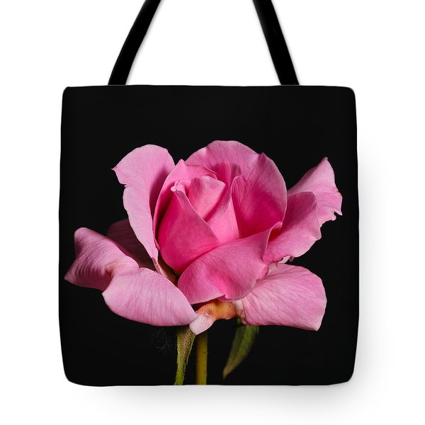 Pink Tea Rose Tote Bag